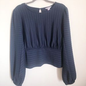 H&M navy ribbed top